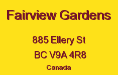 Fairview Gardens 885 Ellery V9A 4R8