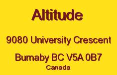 Altitude 9080 UNIVERSITY V5A 0B7