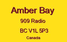 Amber Bay 909 RADIO V1L 5P3
