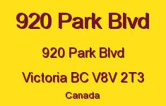 920 Park Blvd 920 Park V8V 2T3