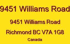 9451 Williams Road 9451 WILLIAMS V7A 1G8