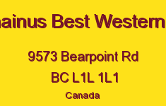Chemainus Best Western Hotel 9573 Bearpoint L1L 1L1