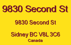 9830 Second St 9830 Second V8L 3C6