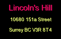Lincoln's Hill 10680 151A V3R 8T4