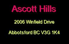 Ascott Hills 2006 WINFIELD V3G 1K4