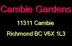 Cambie Gardens 11311 CAMBIE V6X 1L3