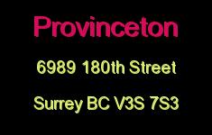 Provinceton 6989 180TH V3S 7S3