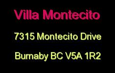 Villa Montecito 7315 MONTECITO V5A 1R2