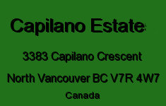 The Capilano Estate 3383 CAPILANO V7R 4W7