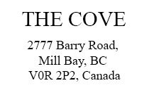 The Cove 2777 Barry V0R 2P0