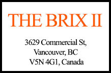 The Brix II 3629 Commercial V5N 4G1