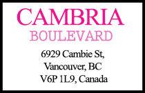 Cambria Boulevard 6929 Cambie V6P 1L9