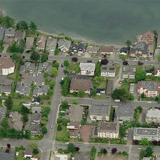 The Arlington - 9993 4th Street, Sidney, BC - Birds eye view!