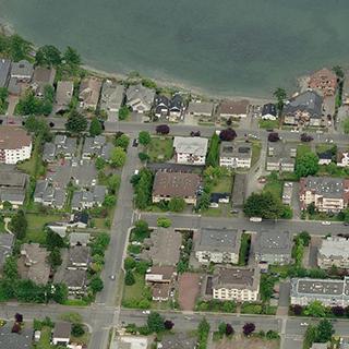 The Arlington - 9993 4th Street, Sidney, BC - Birds eye view!