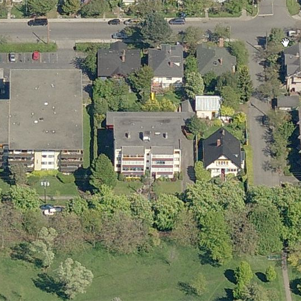 Blair House - 978 Heywood Avenue, Victoria, BC - Birds eye view!