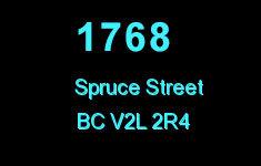 1768 Spruce 1768 SPRUCE V2L 2R4