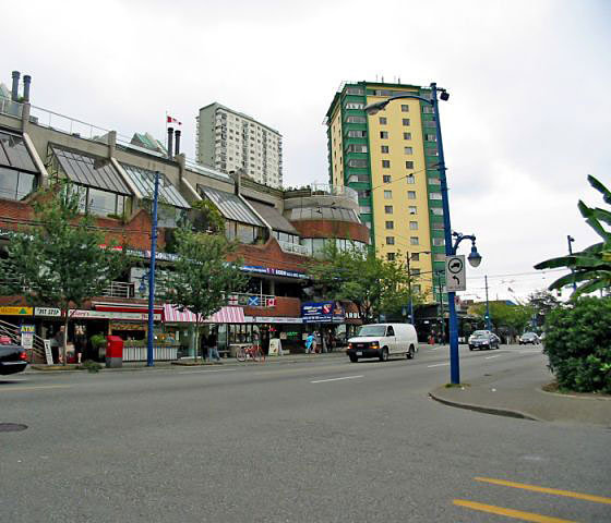 Retail on Denman Across Street!