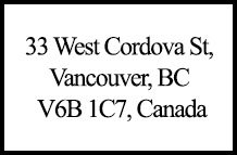 33 W Cordova 33 Cordova V6B 1C7