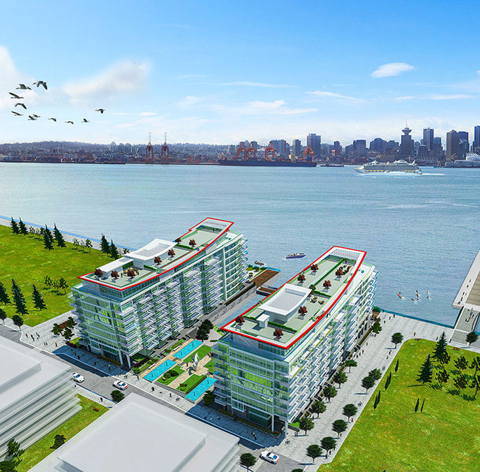 175 Victory Ship Way, North Vancouver, BC V7L 0B2, Canada Exterior Rendering!