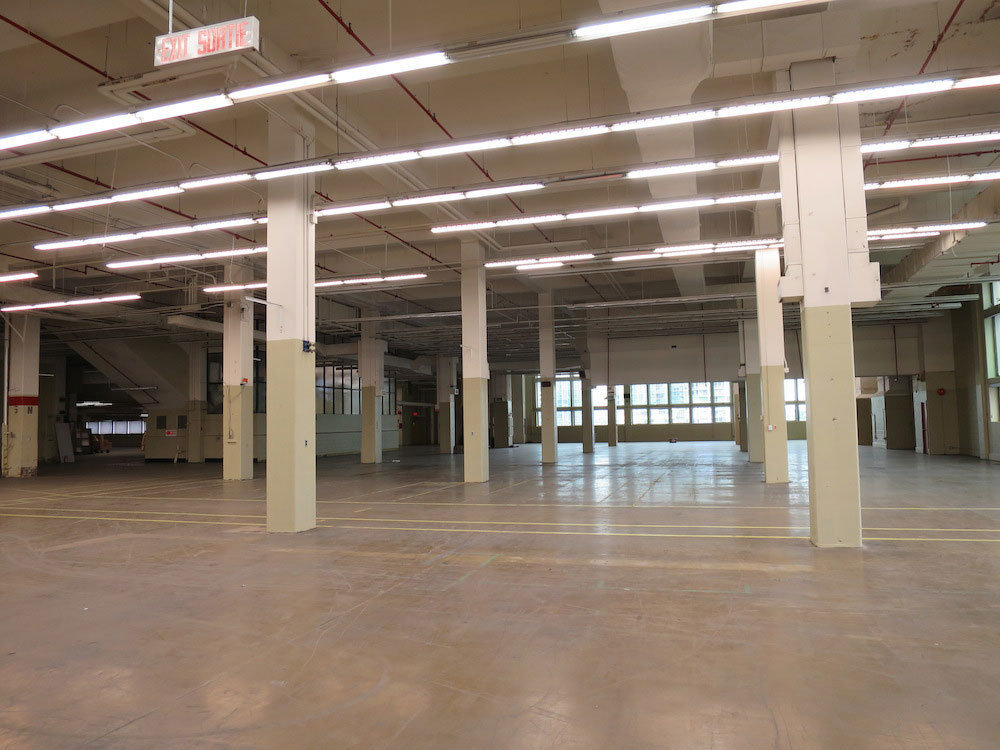 Unused space inside the post office building.!