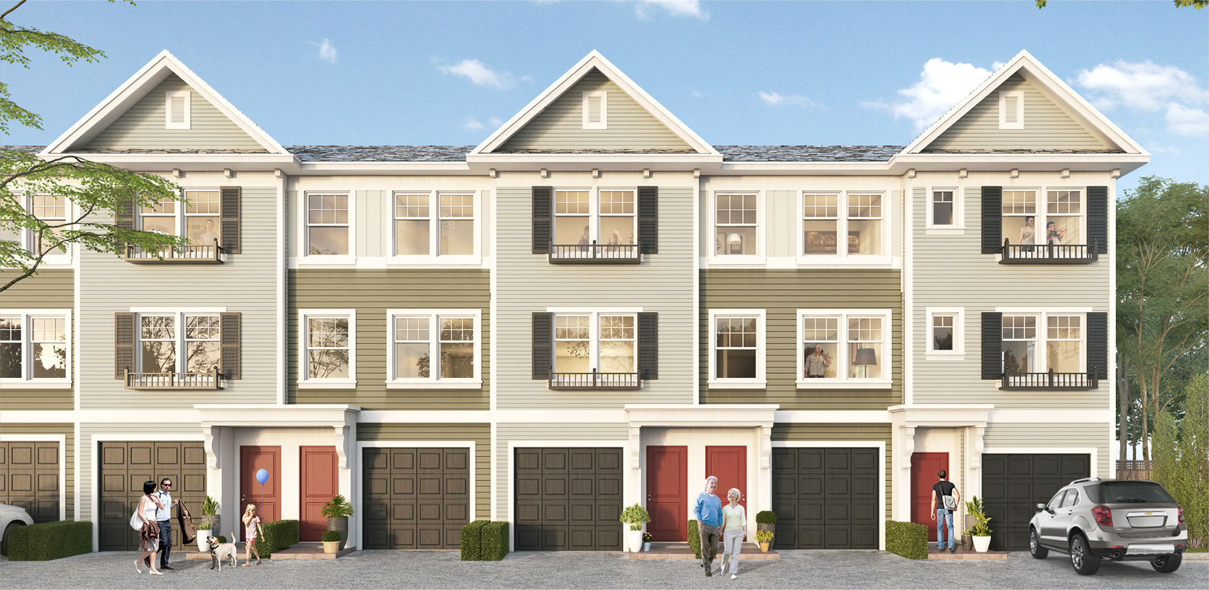 Rendering of Townhouses2800 Allwood St, Abbotsford, BC V2T, Canada Exterior Townhomes!