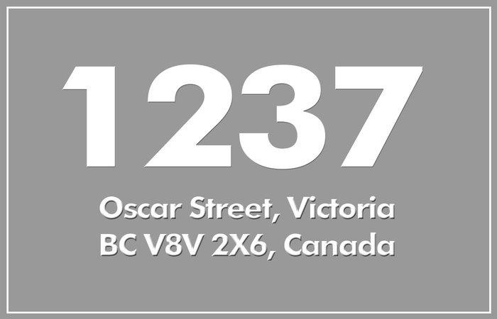 1237 Oscar 1237 Oscar V8V 2X6