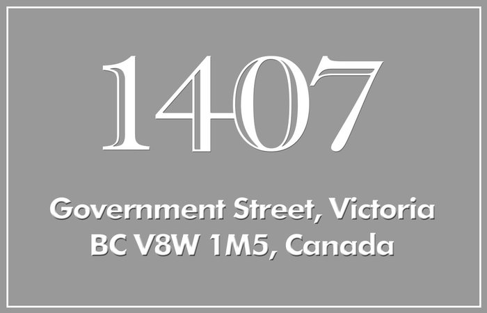 1407 Government 1407 Government V8W 1Z7