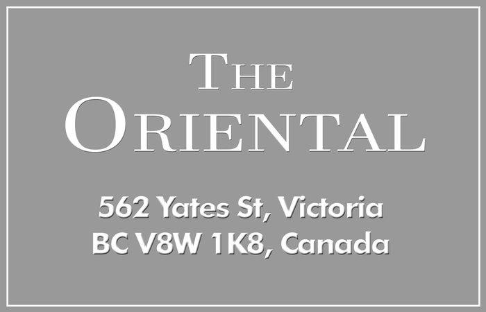 The Oriental 562 Yates V8W 1L4
