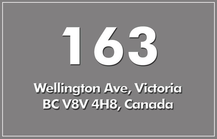 163 Wellington 163 Wellington V8V 4H8