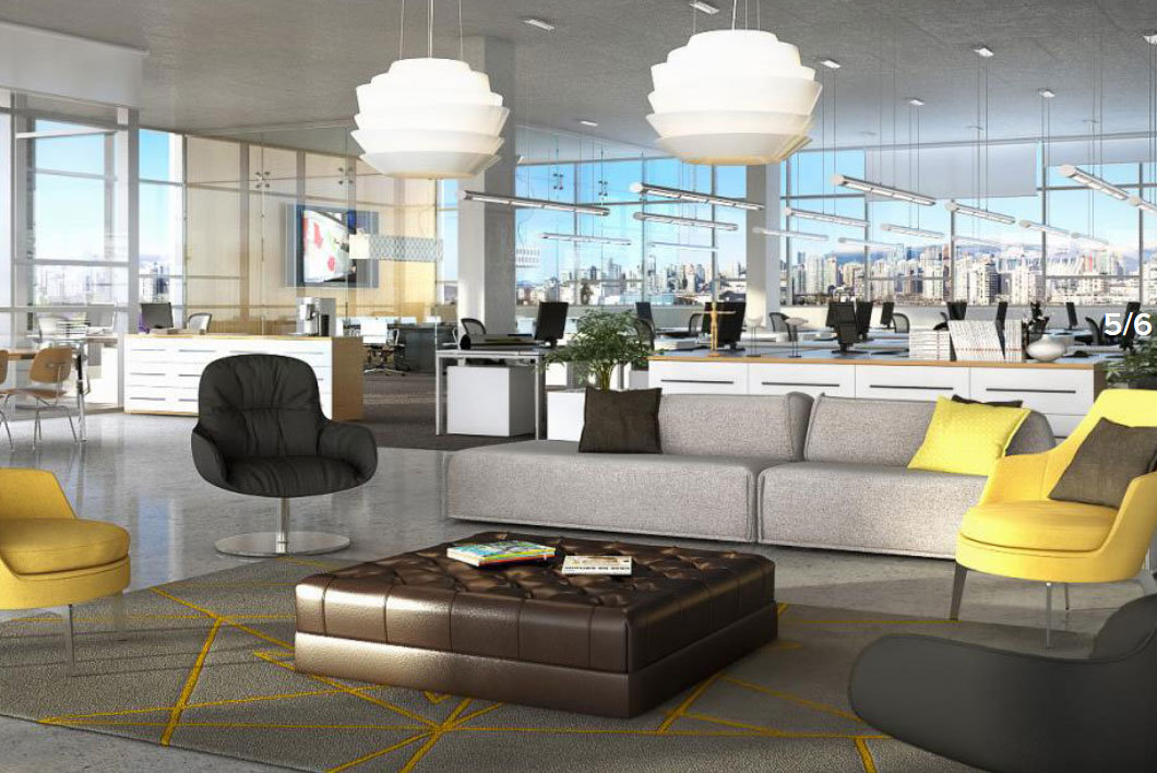Rendering of a 34 West 7th Avenue Office Floor!