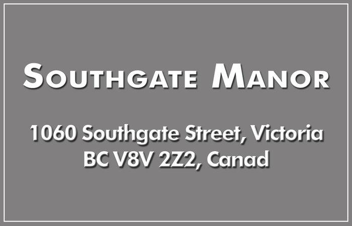 Southgate Manor 1060 Southgate V8V 2Z2