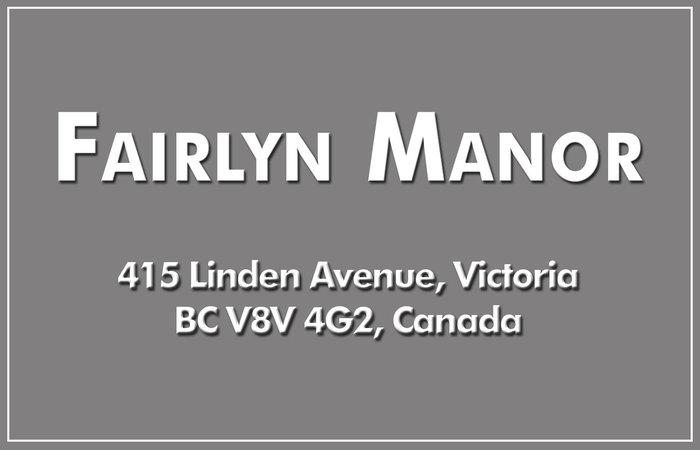 Fairlyn Manor 415 Linden V8V 4G2