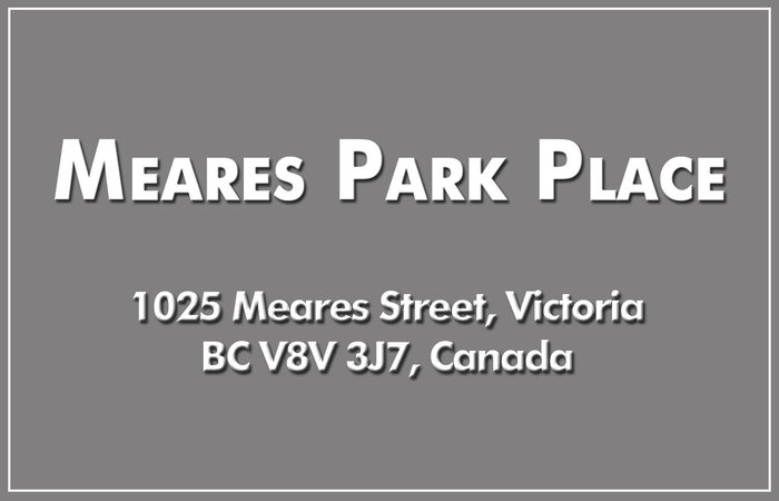 Meares Park Place 1025 Meares V8V 3J7