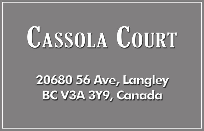 Cassola Court 20680 56TH V3A 3Z1