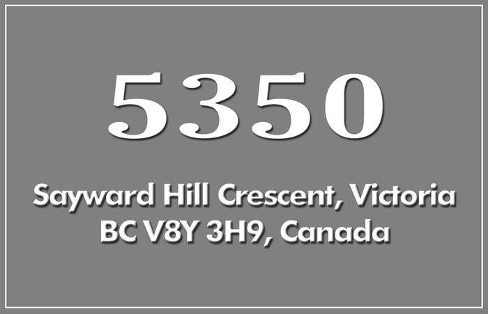 5350 Sayward Hill 5350 Sayward Hill V8Y 3H9