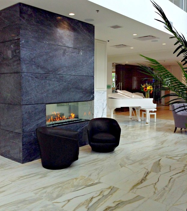 Lobby Fireplace!