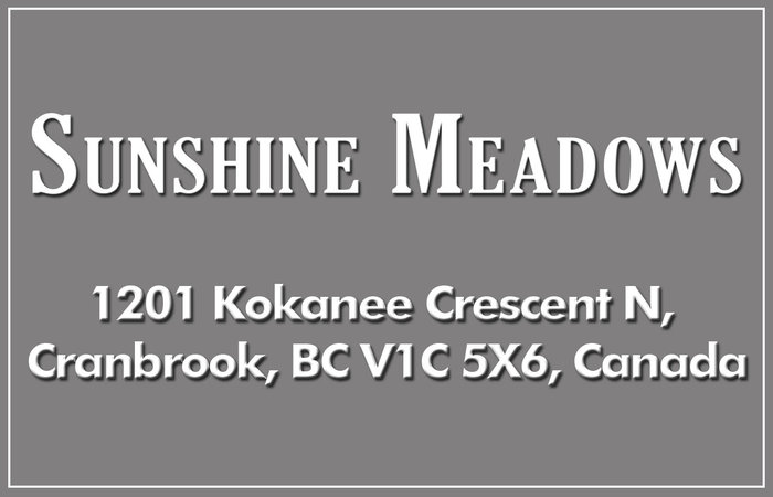 Sunshine Meadows 1201 KOKANEE V1C 5X6