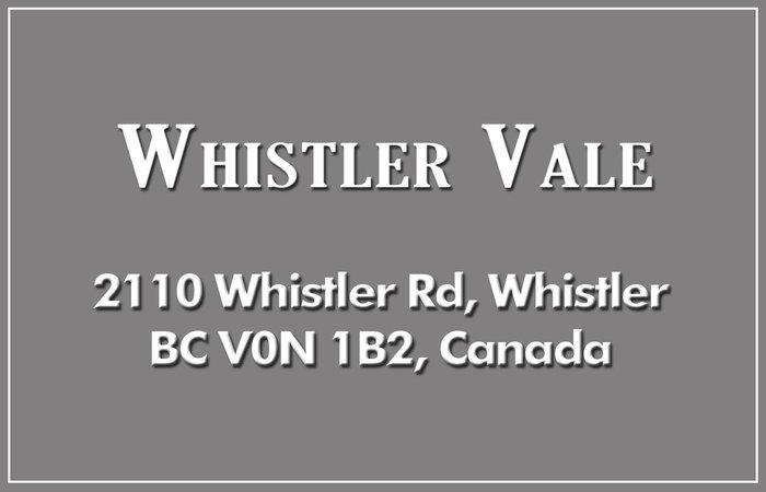 Whistler Vale 2110 WHISTLER V0N 1B2