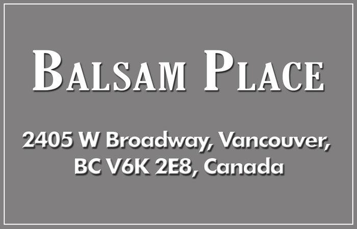 Balsam Place 2405 BROADWAY V6K 2E8