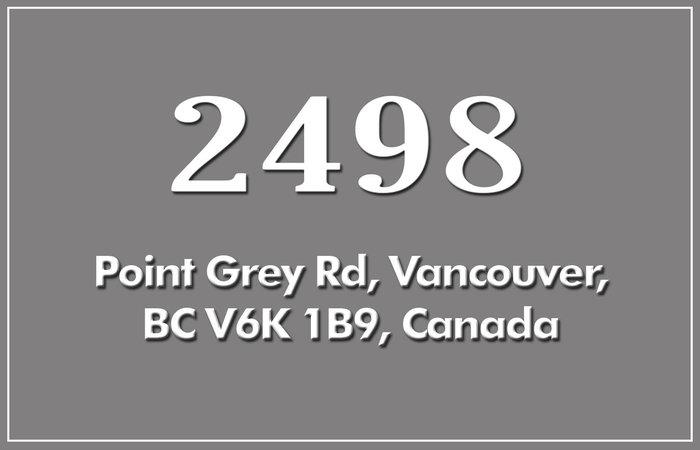 2498 Point Grey 2498 POINT GREY V6K 1A2