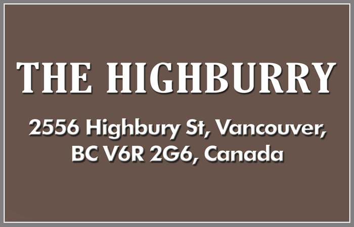 The Highburry 2556 HIGHBURY V6R 2G6