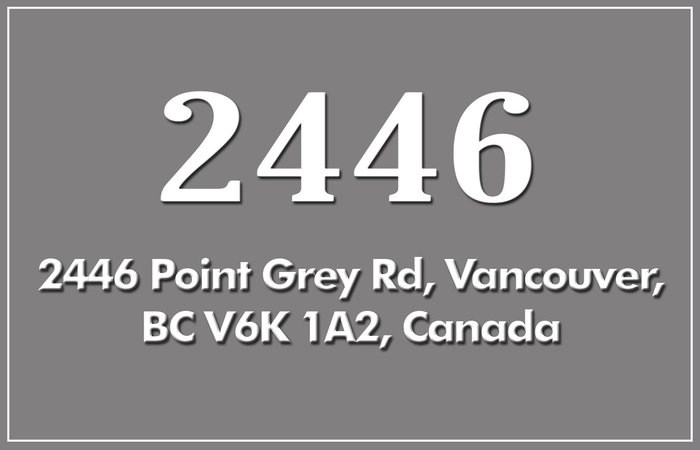2446 Point Grey 2446 POINT GREY V6K 1A2