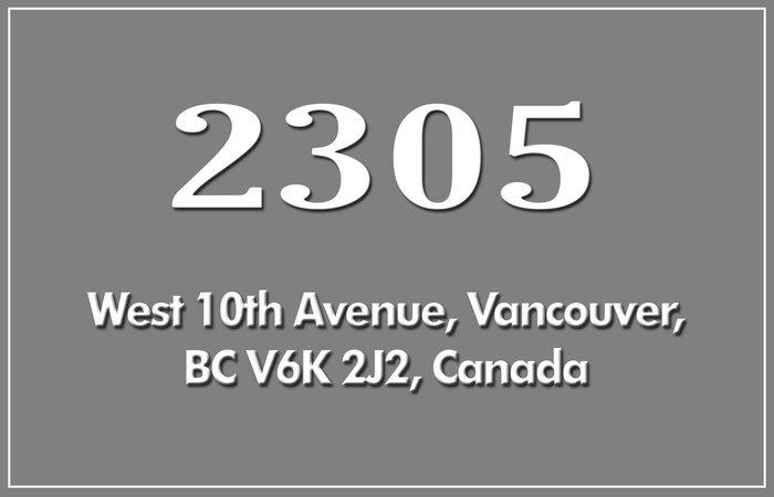 2305 West 10th 2305 10TH V6K 2J2