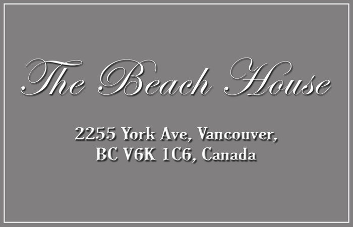 The Beach House 2255 YORK V6K 1C5