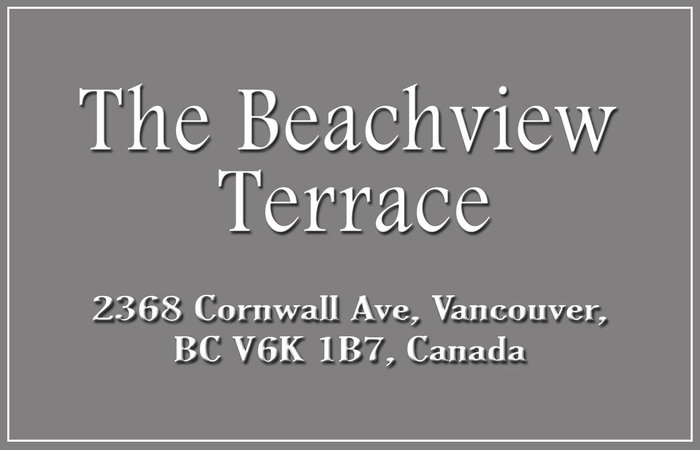 The Beachview Terrace 2368 CORNWALL V6K 1B7