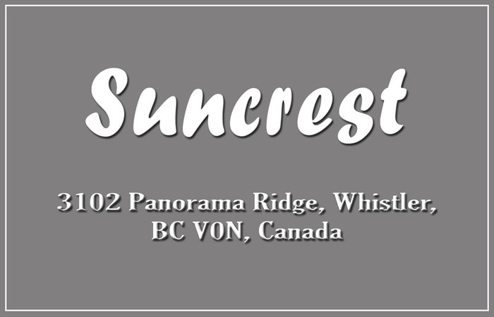 Suncrest 3102 PANORAMA V0N 1B3