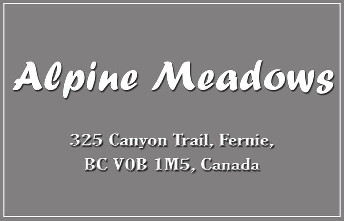 Alpine Meadows 325 CANYON V0B 1M6