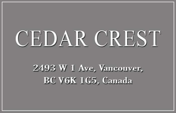 Cedar Crest 2493 1ST V6K 1G5