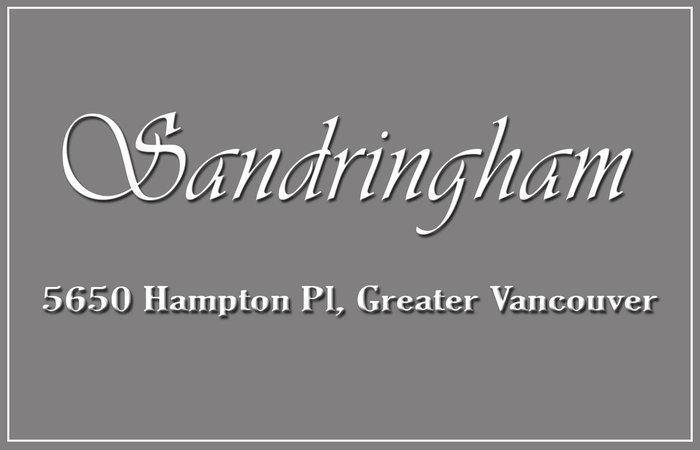 Sandringham 5650 HAMPTON V6T 2G1
