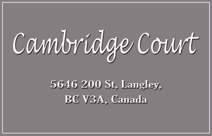 Cambridge Court 5646 200TH V3A 1M8